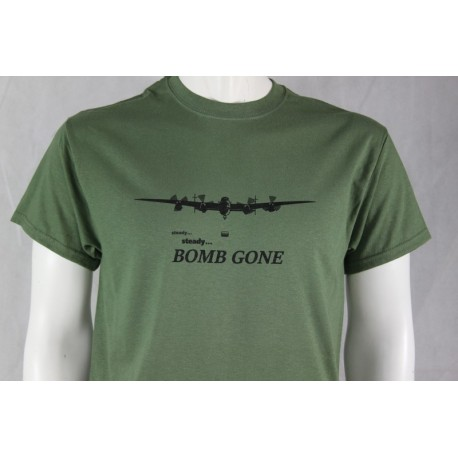 Bomb Gone Avro Lancaster Exclusive Printed T-Shirt RAF Military Forces Tactical Green