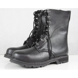 Highlander Copy of German Army Boot Military Vintage Style Punk Black Leather