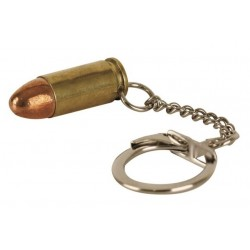 9mm Bullet Keyring Gold