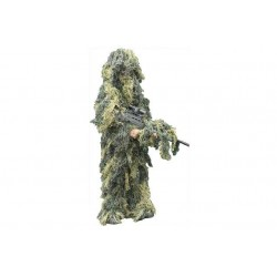 Kids Ghillie Suit Sniper Suit Overall Outfit Set Camouflage
