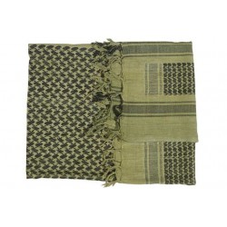 Kombat Shemagh Green and Black Woven Arabic Style