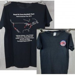 Factory Overrun RAF Red Arrows North America Tour Official Tour T-Shirt Black
