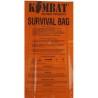 Kombat Waterproof  Survival Bag  Survival Instructions ORANGE Walking