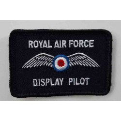 Factory Overrun RAF Display Pilot Airshow Embroidered Patch Kids Patch 70x45mm