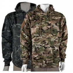 Kombat Tactical Hoodie BTP /Black  Tactical Military Pockets Cotton Rich Hooded