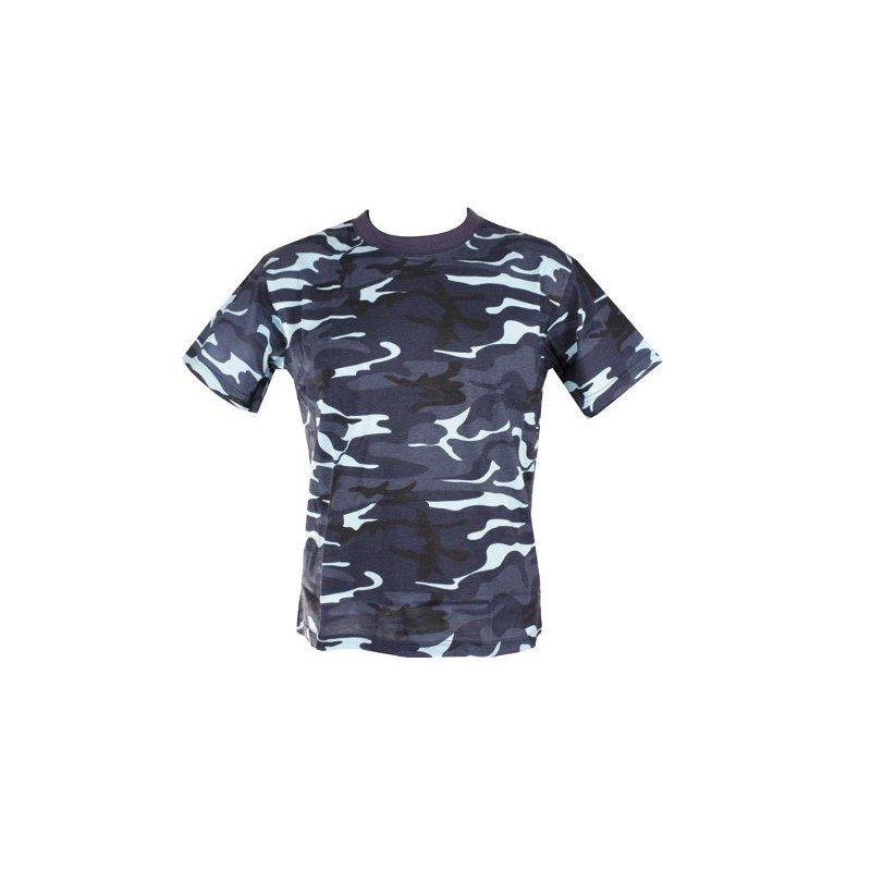 aa081605 Camo T-Shirt Midnight Blue - Military and Outdoor