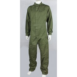 Genuine Surplus British Overall Coverall Army All in One Polycotton Olive Hook & Loop Fasten