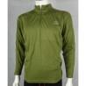 Highlander ClimateX Base Layer Long Sleeve Zip Neck T-Shirt Vest Wicking Olive
