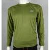 Highlander ClimateX Base Layer T-Shirt Long Sleeve Vest Wicking Olive