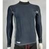 Highlander Pro Comp Mens Base Layer Long Sleeve T-Shirt Vest Wicking Black Grey