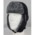 Cossack Hat Winter Grey Thermal Faux Fur Trapper Hat Size Small Adult