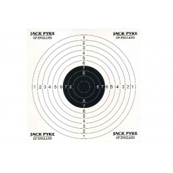 Jack Pyke Paper Targets For Air Rifle Practise Competition pack of 100