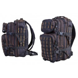 Small MOLLE Assault Pack Black/Orange