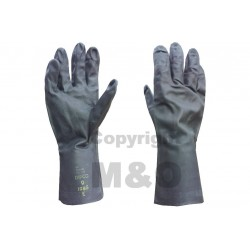 Genuine Surplus British Rubber Gloves Black Unused