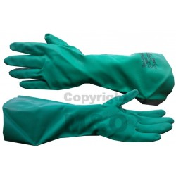 Genuine Surplus British Rubber Gloves Green Unused Size 8