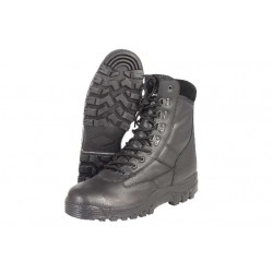 All Leather Patrol Boots Black Delta Style