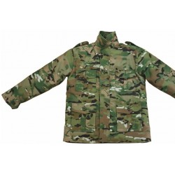 Kids Multicam Style Camo Padded Coat