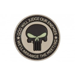 PVC God Will Judge Tactical Patch Velcro Backed
