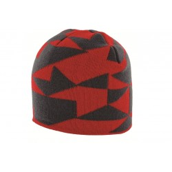 Highlander Beanie Hat Red / Grey