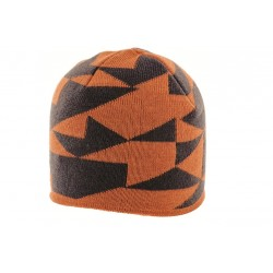 Highlander Beanie Hat Orange/ Grey