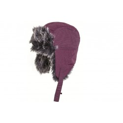 Highlander Faux Fur Winter Hat Purple