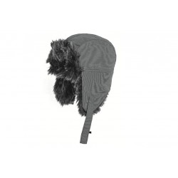 Highlander Faux Fur Winter Hat Grey