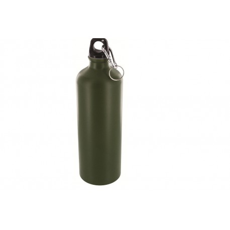 Highlander Aluminium Drinks Bottle 1litre Olive