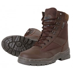 Kombat Brown Leather and Fabric Cadet Boot