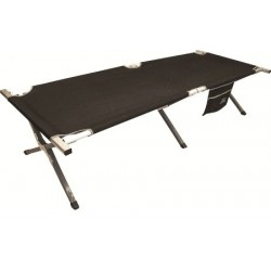 Highlander Aluminium Camp Bed with side pocket