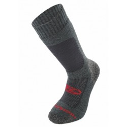 Highlander Wool Trekking / Hiking Sock Charcoal / Red