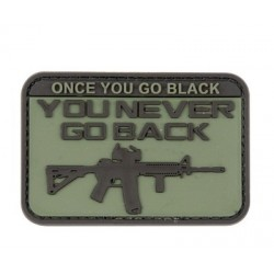 "PVC ""You Go Black"" Tactical Patch Black Velcro Backed"