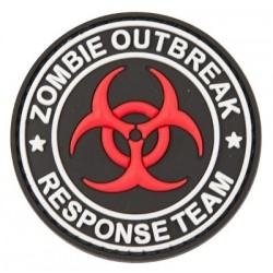 PVC Zombie Response Tactical Patch Black Velcro Backed
