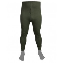 Kombat Thermal Long Johns Leggings Olive Green Cotton