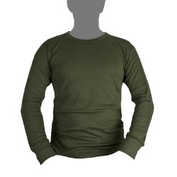 Kombat Thermal Long Sleeve Vest Olive Green Cotton