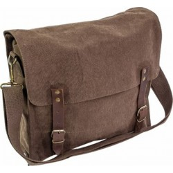 Highlander Vintage Style Canvas Satchel Brown