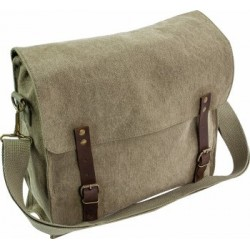 Highlander Vintage Style Canvas Satchel Green