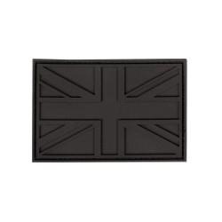 PVC Union Jack Tactical Stealth Patch Black Velcro Backed