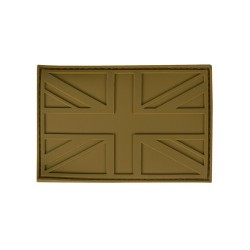 PVC Union Jack Tactical Stealth Patch Tan Velcro Backed