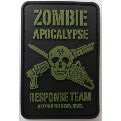 PVC Zombie Apocalypse Tactical Patch Black Velcro Backed
