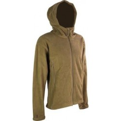 Highlander Tactical Hooded Fleece Jacket Water Resistant Tan