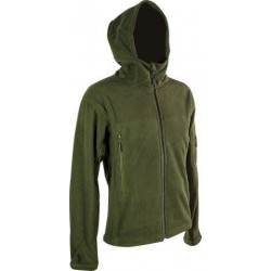 Highlander Tactical Hooded Mission Fleece Jacket Water Resistant Olive