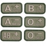 Viper PVC Blood Group Patch Military Forces Velcro Olive Green