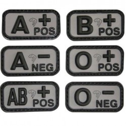 Viper PVC Blood Group Patch Military Forces Velcro Black