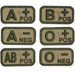 Viper PVC Blood Group Patch Military Forces Velcro V-Cam