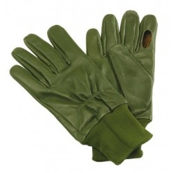 David Nickerson Green Leather Shooting Glove Folding Finger