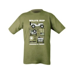 Kombat WWII Willys Jeep T-Shirt Olive Soldier Forces Military Airsoft