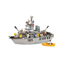 Sluban Destroyer Naval Ship Military Bricks B0125