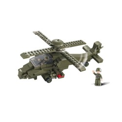 Sluban Apache Attack Helicopter Military Bricks B0298