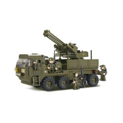 Sluban Army Heavy Transporter Lorry Military Bricks B0302