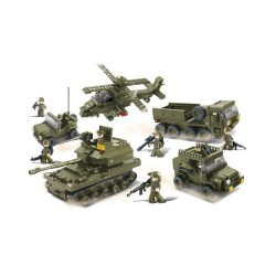 Sluban Army Battle Forces Set Military Bricks B0311